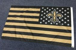 New Orleans Saints 3x5 Ft American Flag Football New In Pack